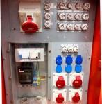 Baustromverteiler für Kran mit Zusatzanschlüssen