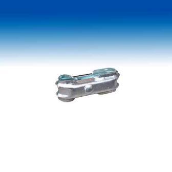 Bau-Zaunschelle mit Sechskant-Schraube M10 / M12