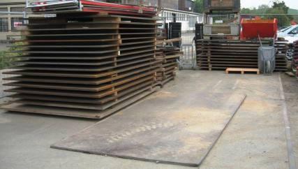 Stahlplatte 4,00m x 1,99m x 30mm 1910 kg