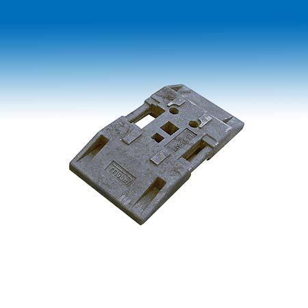 Bakenfußplatte (TL-Fußplatte)  PVC schwarz
