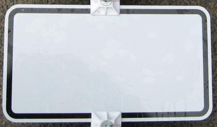 Blankoschild 231x420mm weiß