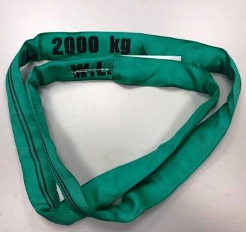 Rundschlinge Endloshebeband 2t 2m/1m Grün