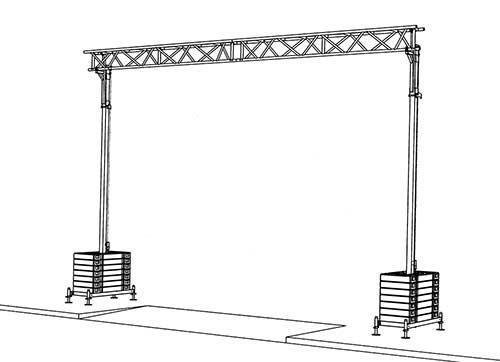 Kabelbrücke Durchfahrbreite 7,5m