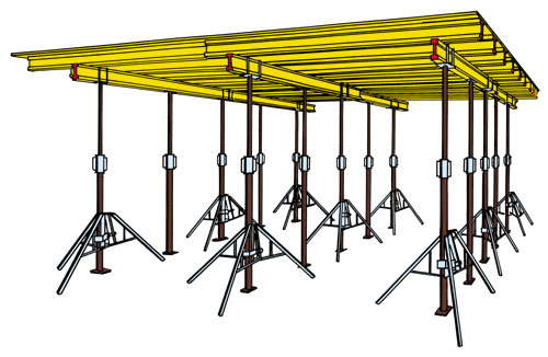 Schalung Set für Ortbeton Decke 100m²