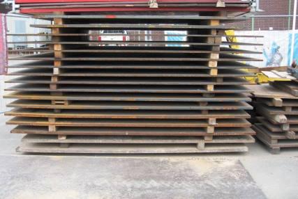 Stahlschutzplatte 3,00m x 1,69m x 34mm 1379 kg
