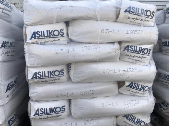 Granulat Asilikos 0.50-1.40mm Schwarz 25kg Sack
