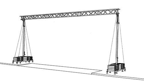 Straßenüberführung Kabelbrücke Breite 11,5 m