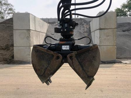 Zweischalengreifer für Minibagger  B=40cm